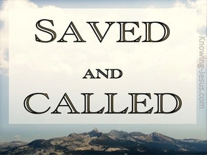 2 Timothy 1:9 Saved And Called According To His Grace (brown)