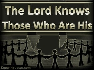 2 Timothy 2:19 The Lord Knows Those Who Are His (gold)