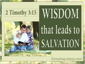 2 Timothy 3:15 From Childhood You Have Known The Holy Scriptures green