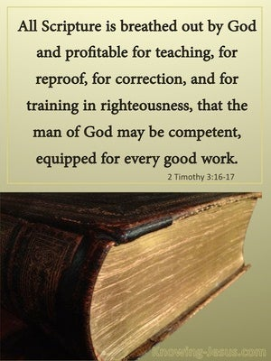 2 Timothy 3:16 All Scripture Is God Breathed gold