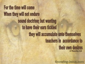 2 Timothy 4:3 They Will Not Endure Sound Doctrine (beige)