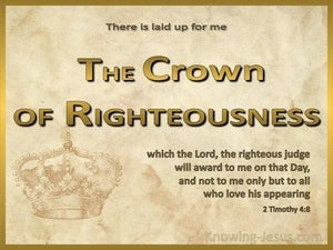 2 Timothy 4:8 The Crown Of Righteousness beige
