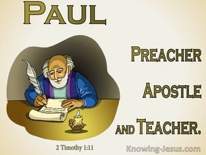 2 Timothy 1:11 Appointed Preacher Apostle And Teacher (beige)