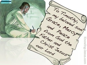 2 Timothy 1:2 To Timothy Grace, Mercy And Peace (green)
