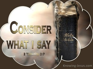2 Timothy 2:7 Consider What I Say (brown)