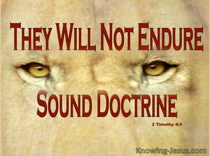2 Timothy 4:3 They Will Not Endure Sound Doctrine (red)