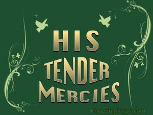 His Tender Mercies (devotional) (green) - Luke 1:78