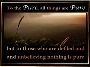 Titus 1:5 To Pure All Things Are Pure brown