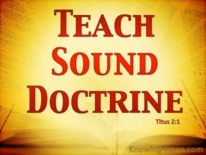 Titus 2:1 Teach Sound Teaching (red)