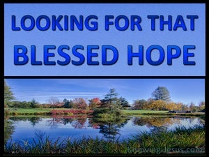 Titus 2:13 Looking For That Blessed Hope blue