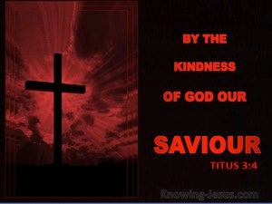 Titus 3:4 Not By Works Of Righteousness red
