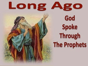 Hebrews 1:1 Long Ago God Spoke Through His Prophets red