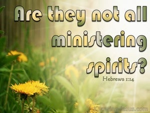 Hebrews 1:14 Are They Not All Ministering Spirits yellow