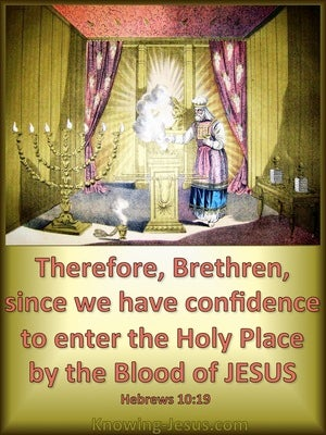 Hebrews 10:19 Confidence To Enter The Holy Place green