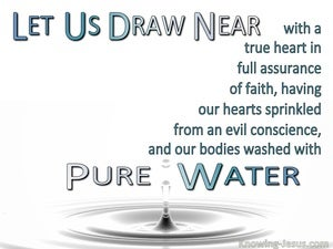Hebrews 10:22 Bodies Washed With Pure Water (white)