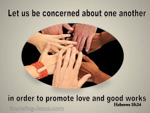 Hebrews 10:24 Promote Love And Good Works  gray