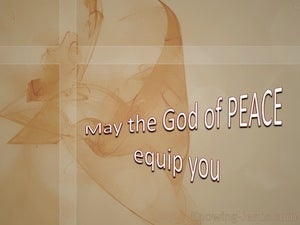 Hebrews 13:20 The God Of Peace (brown)