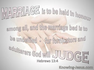 Hebrews 13:4 Marriage Is To Be Held In Honour pink