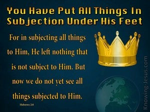 Hebrews 2:8 All In Subjection Under His Feet gold