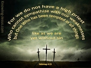 Hebrews 4:15 Jesus Our Great High Priest yellow