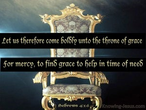 Hebrews 4:16 Come Boldly To The Throne Of Grace black