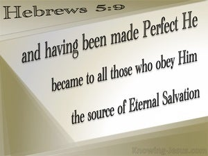 Hebrews 5:9  Christ The Source Of Eternal Salvation (beige)