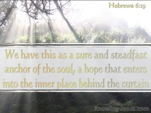 Hebrews 6:19 We Have A Sure And Steadfast Hope (white)