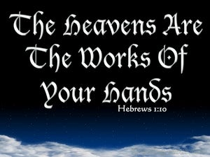 Hebrews 1:10 The Lord Laid The Foundation Of The Earth (white)