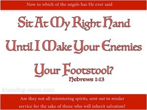 Hebrews 1:13 Sit At My Right Hand (red)