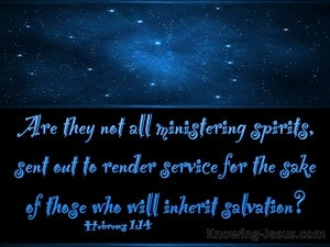 Hebrews 1:14 Are They Not All Ministering Spirits (blue)
