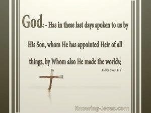 Hebrews 1:2 Jesus Is Appointed Heir Of All Things:beige
