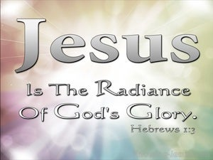 Hebrews 1:3 The Son Is The Radiance Of God (beige)