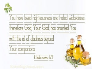 Hebrews 1:9 The Oil Of Gladness (white)