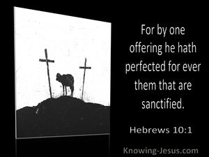 Hebrews 10:1 For By One Offering He Hath Perfected For Ever Them That Are Sanctified (utmost)12:08
