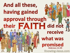 Hebrews 11:39 These Gained Approval Through Faith (red)