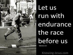 Hebrews 12:1 Run With Patience (black)