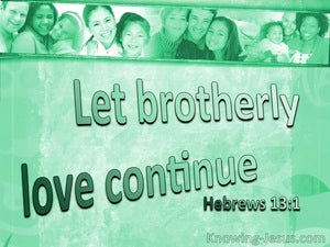 Hebrews 13:1 Let Brotherly Love Continue (sage)