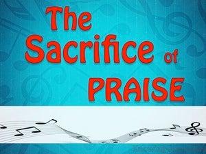 The Sacrifice of Praise (devotional) (aqua) - Hebrews 13:15
