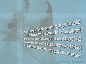 Hebrews 13:20 The God Of Peace (gray)