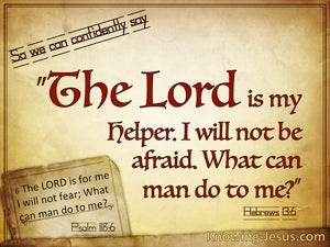 Hebrews 13:6 The Lord Is My Helper (beige)