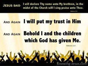 Hebrews 2:13 The Children God Has Given Me (black)