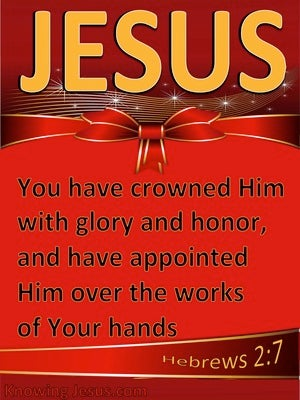 Hebrews 2:7 Crowned With Honour And Glory (red)