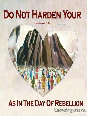 Hebrews 3:8 Do Not Harden Your Hearts As In The Wilderness (beige)
