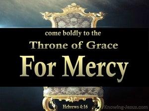 Hebrews 4:16 Come Boldly To The Throne Of Grace (aqua)