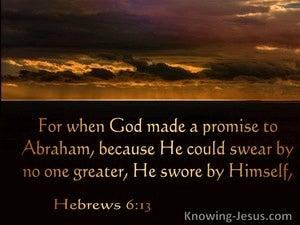 Hebrews 6:13  He Swore By Himself (brown)