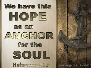 Hebrews 6:19 We Have This Hope As An Anchor Of The Soul (gold)