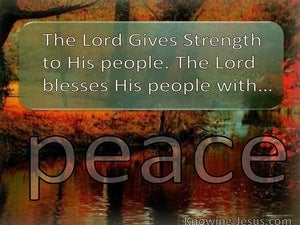 Psalm 29:11 The Lord Gives Strength