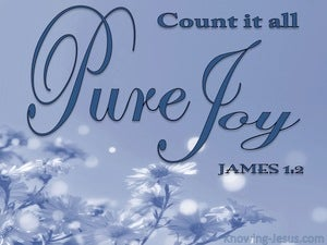 James 1:2 Consider It Pure Joy blue