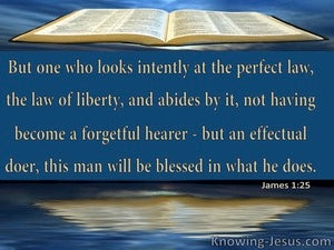James 1:25 Abide By The Perfect Law Of Liberty (yellow)