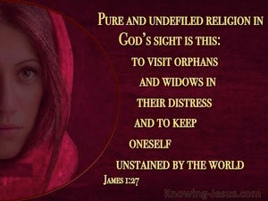 James 1:27 Pure And Undefiled Religion red